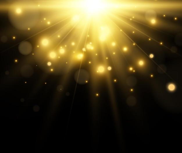 투명에 조명 효과의 밝고 아름다운 starillustration