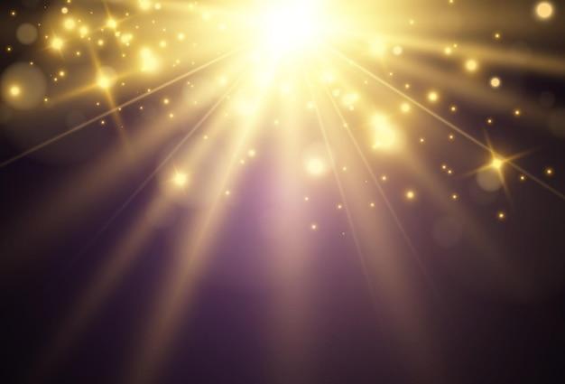 투명 한 배경에 조명 효과의 밝은 아름 다운 starvector 그림