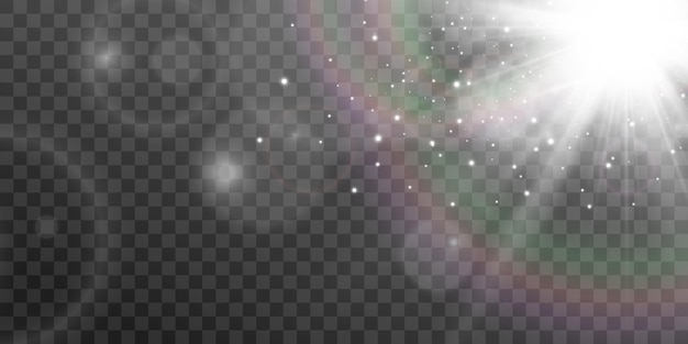 透明な背景に光の効果の明るく美しいstarvectorイラスト