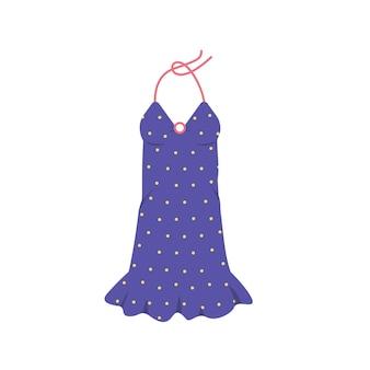 땡땡이 무늬 여성 세련된 옷으로 밝고 아름다운 여름 드레스