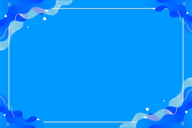 Bright blue abstract liquid flow background template