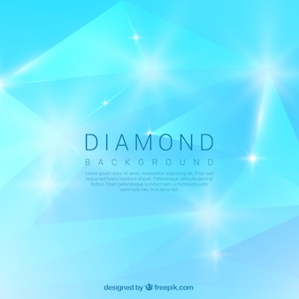 Bright blue diamond background