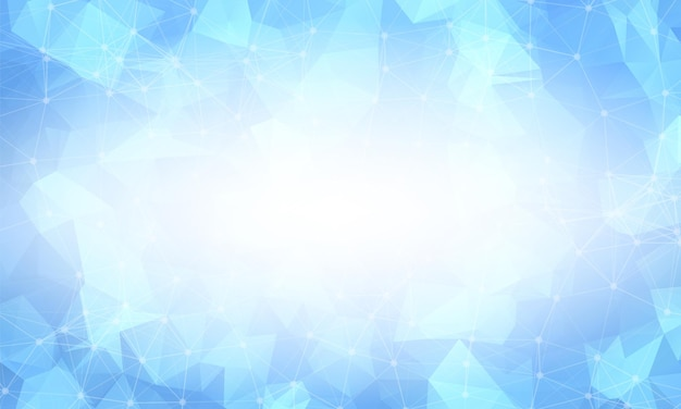 Bright blue low poly background. polygonal design pattern. bright mosaic modern geometric design, creative design templates. connected lines with dots.