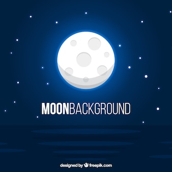 Bright blue moon background