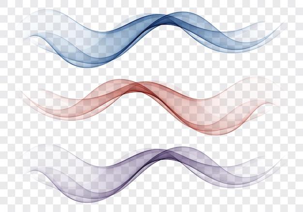 Ярко-синяя скорость абстрактные линии потока минималистичный свежий галочка голубая волна потока набор волн