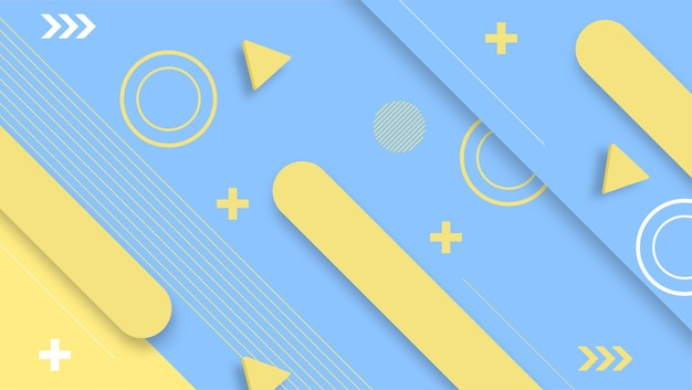 Bright blue yellow colors modern background design