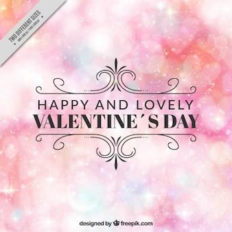 Bright bokeh background of happy valentine