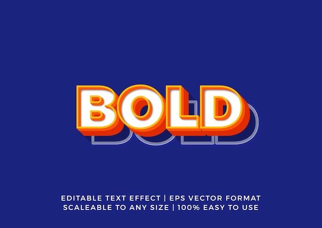 Яркий жирный эффект 3d-текста в стиле ретро