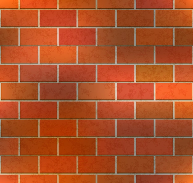 Bright brown brick wall with texture, seamless pattern