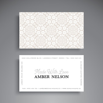 Bright business card with ethnic pattern