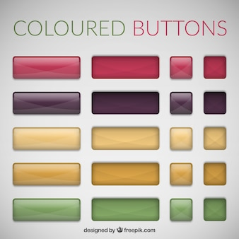 Bright buttons for web