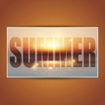 Bright card of summer