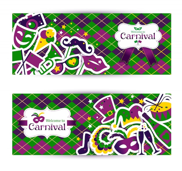Bright carnival banners