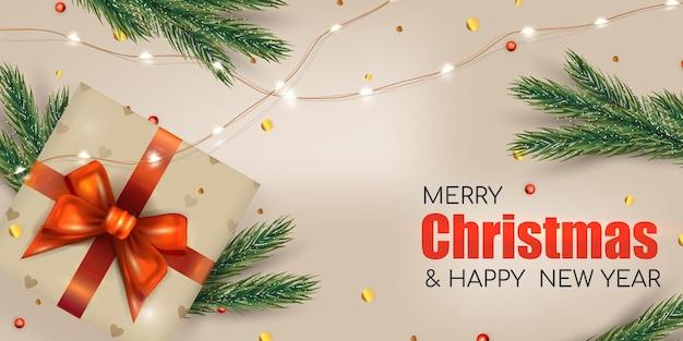 バナーの明るいクリスマスの背景。