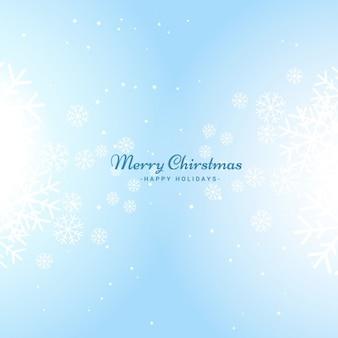 밝은 파란색으로 밝은 크리스마스 배경