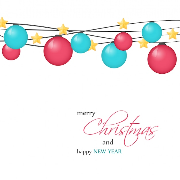 Bright christmas greeting card