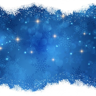 Bright christmas night background