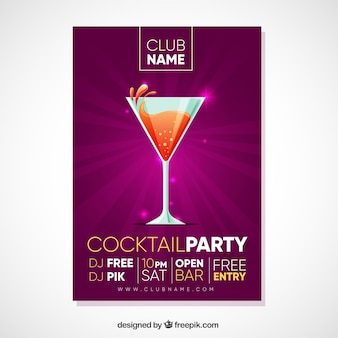 Bright cocktail party brochure