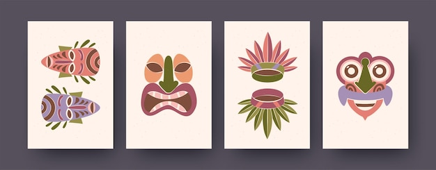 Bright collection of cards with ritual elements landing page