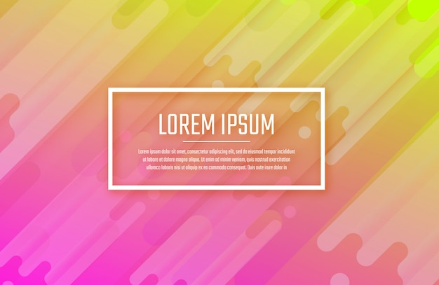 Bright color background with abstract shapes composition