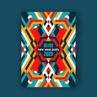 밝은 색상 장식 추상 포스터, 현대 수직 배너.