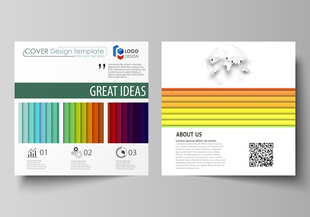 Bright color rectangles