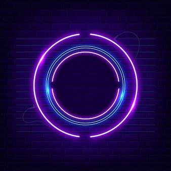 Bright colored neon frame