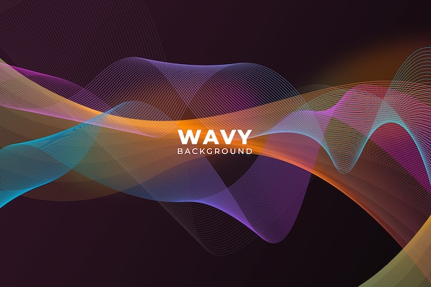 Bright colored wavy background