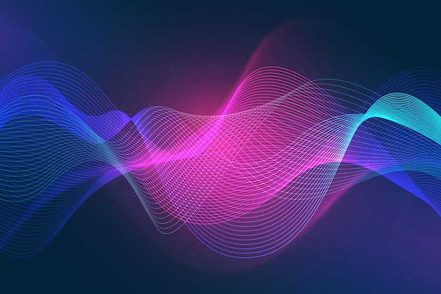 Bright colored wavy wallpaper