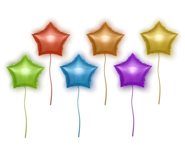 별 모양 설정 밝은 다채로운 풍선