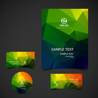Bright colorful business stationery