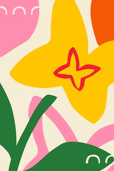Bright and colorful flower patterned poster