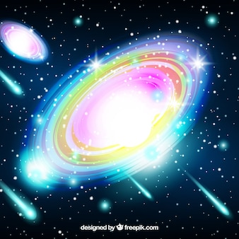 Bright and colorful galaxy background