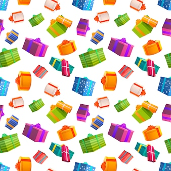 Bright colorful gift boxes