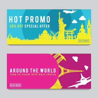 Bright and colorful promotion banner