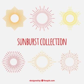 Bright colors sunburst