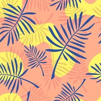 밝은 산호와 파란 고비 원활한 패턴