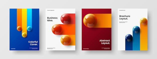 Bright corporate identity a4 design vector layout bundle