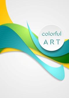 Яркие фирменные плавные изгибы. вектор элегантные красочные волны для вашего дизайна