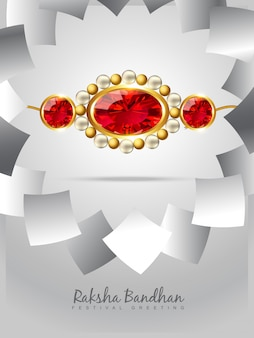 Bright design for raksha bandhan