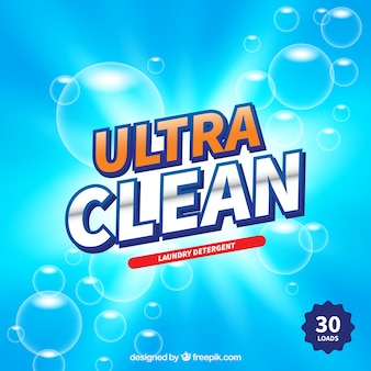 Bright detergent background