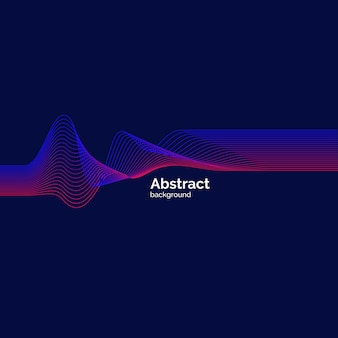 Яркие динамические волны, минималистичный плоский стиль