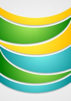 Яркие элегантные волны абстрактный фон. векторная иллюстрация для вашего дизайна