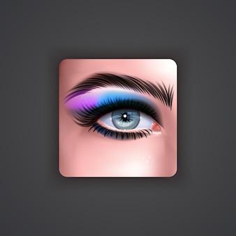 Bright eye shadow icon 3d illustration