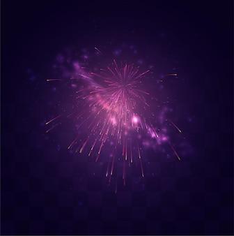 Яркий праздничный взрыв салюта на сменном мозаичном фоне, ощущение праздника
