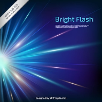 Bright flash background in blue tones
