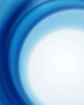 青い波の背景の渦巻きと明るいフラッシュ。