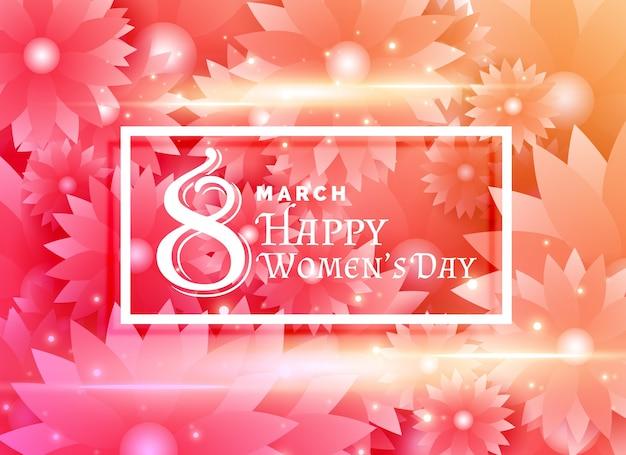 Счастливые женщины день дизайн с цветами фона украшения