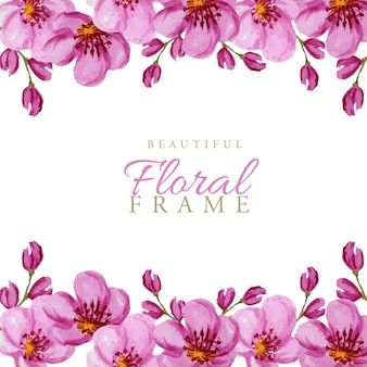 Bright flowers and bud frame on white for text
