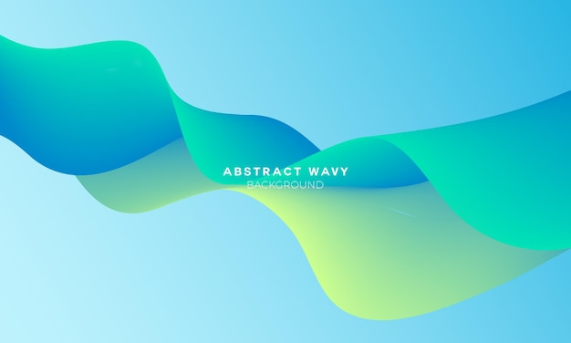 明るい流体波状の抽象的な背景